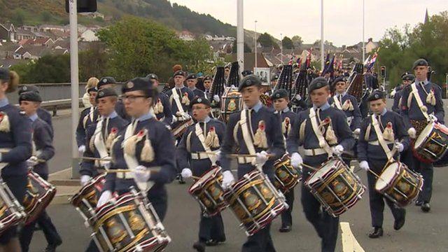 VE Day parade in Swansea