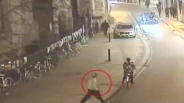 CCTV of Libyan cadets in Cambridge