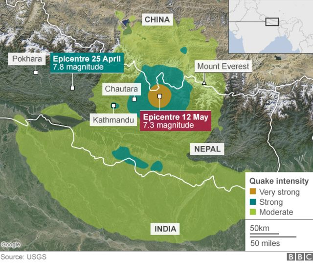 Nepal earthquake: Dozens die in new tremor near Everest