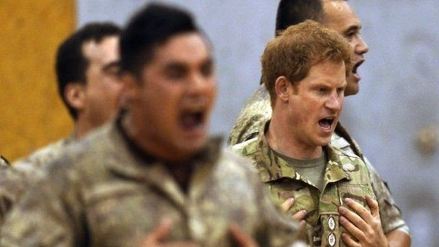Prince Harry doing the Haka