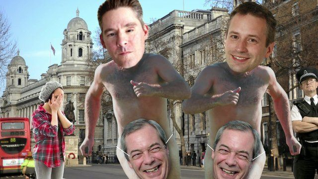 Graphic with Dan Hodges, Stephen Tall and Nigel Farage faces