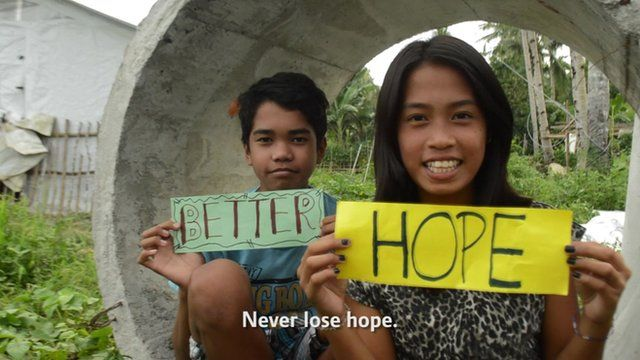 Philippine kids message to Nepal