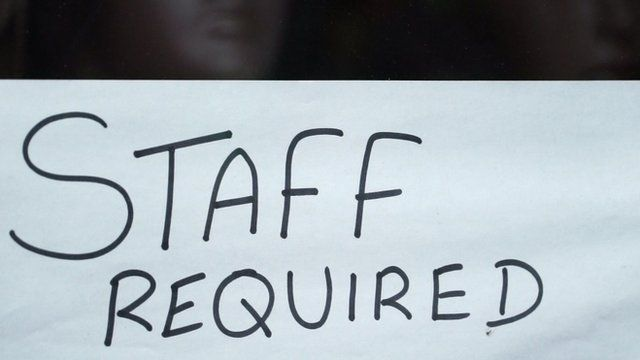 Staff required sign in a Hounslow shop window