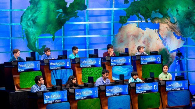 The contestants of the National Geographic Bee