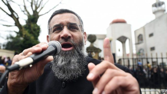 Anjem Choudary holds a rally for Muslims outside Regent's Park Mosque in London - 3 April 2015