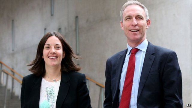 Kezia Dugdale and Jim Murphy