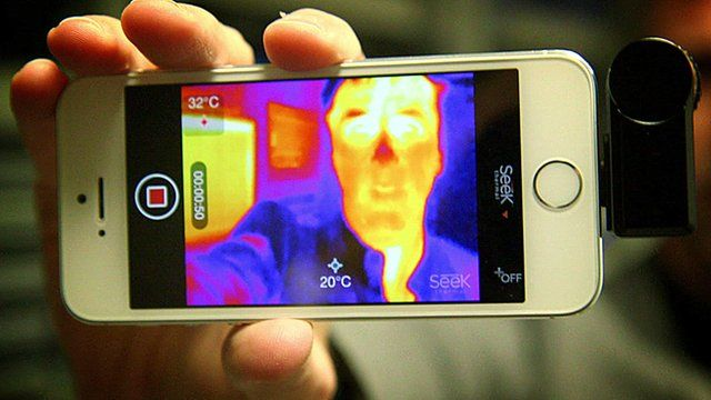 A thermal image on a smartphone
