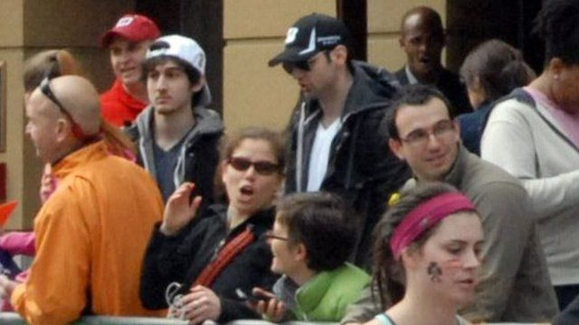 Dzhokhar and Tamerlan Tsarnaev were captured in photos on the day of the bombing