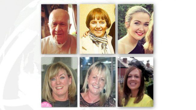 (Clockwise from top left) Jack Sweeney, Lorraine Sweeney, Erin McQuade, Jacqueline Morton, Stephenie Tait and Gillian Ewing