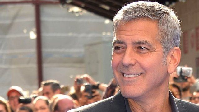 George Clooney attends the Tomorrowland: A World Beyond, European premiere at Leicester Square