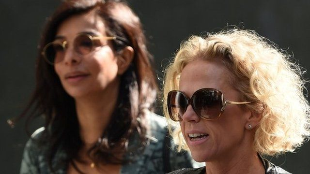 Shobna Gulati and Lucy Taggart arrive at court