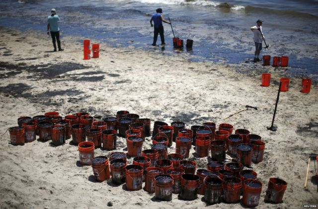 California investigates nine-mile oil slick