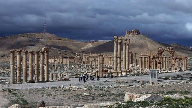 File photo taken on 14 March 2014. showing ancient city of Palmyra