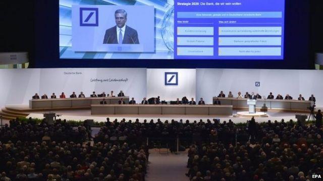 Deutsche Bank hit by shareholder investor revolt