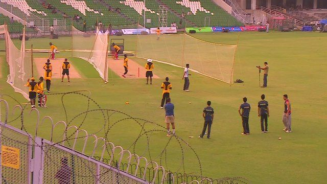 Zimbabwe's team prepare ahead of Friday's match in Lahore