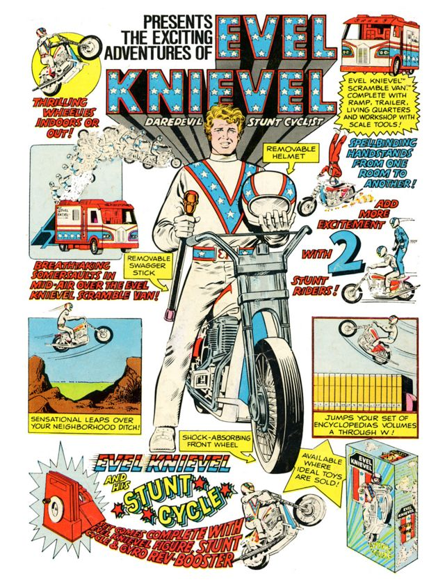Do you remember the Evel Knievel Stunt Cycle?