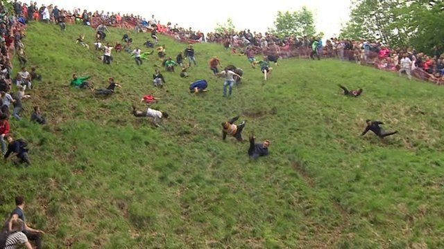 Gloucestershire cheese-rolling on Cooper's Hill