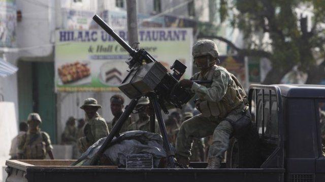 Somali soldier - file image