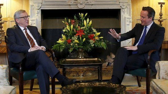 David Cameron and European Commission President Jean-Claude