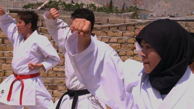 Hazaras practicing martial arts in Quetta