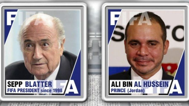 The two contenders for the Fifa leadership