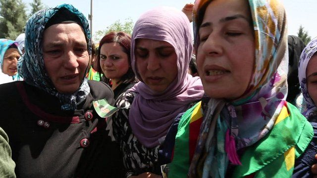 Kurdish women at funeral