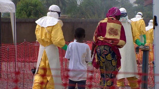 Ebola treatment centre in Guinea