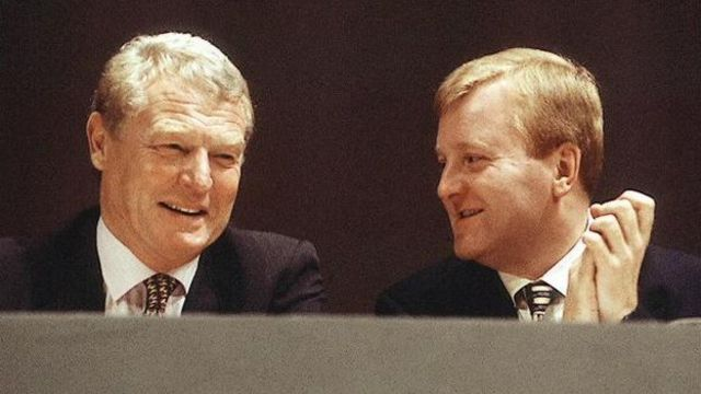 Paddy Ashdown and Charles Kennedy pictured in 1999