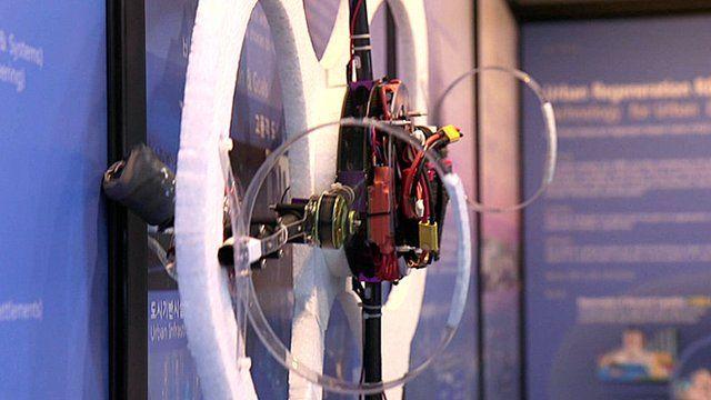 A drone that can climb walls