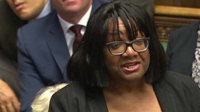 Diane Abbott at PMQs
