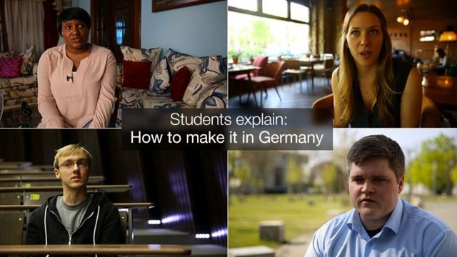 Students talk to the BBC