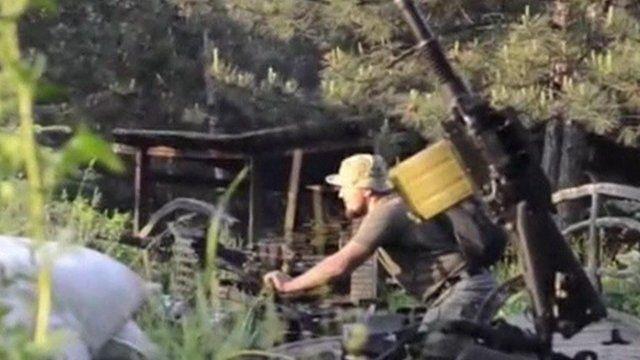 Rebel fighter in eastern Ukraine