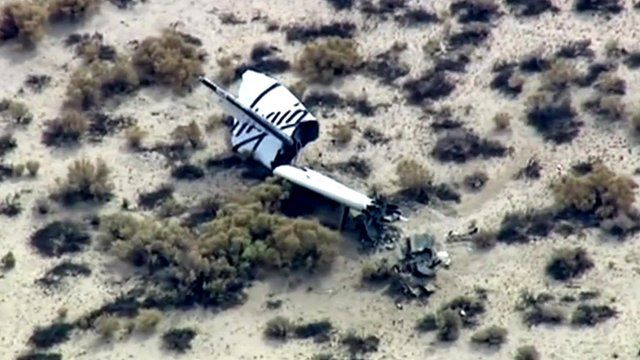 Virgin Galactic wreckage