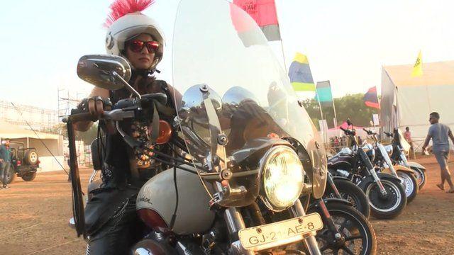One of India's female motorbike riders