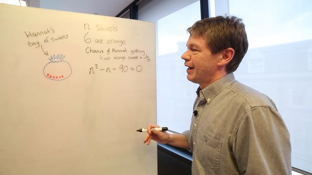 Rob Eastaway solving a tricky problem
