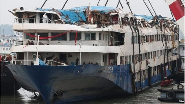 Mourning ceremonies for China ship dead as toll rises