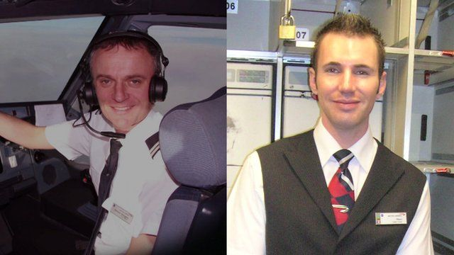 British Airways employees Richard Westgate and Matthew Bass who both died of illnesses their families blame on contaminated cabin air