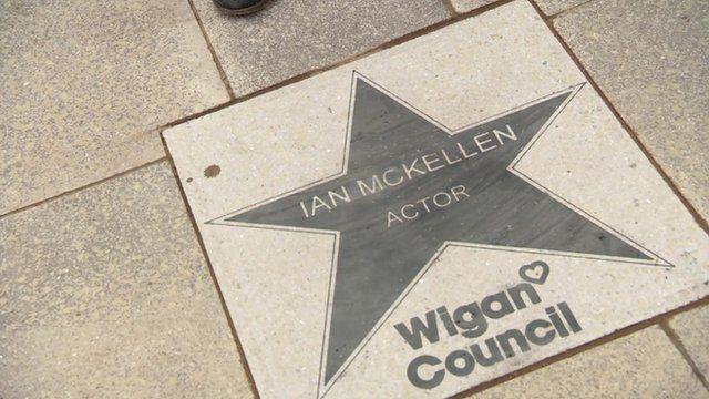 Ian McKellen's star