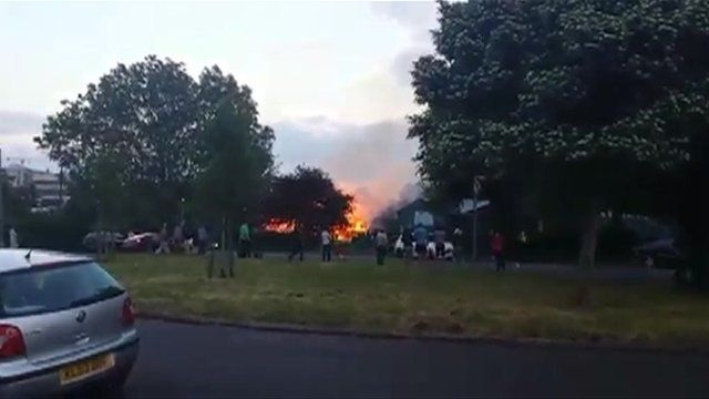 Southmead playground fire