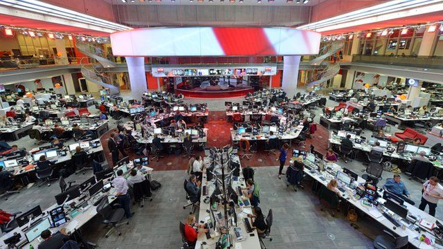 BBC Newsroom in W1
