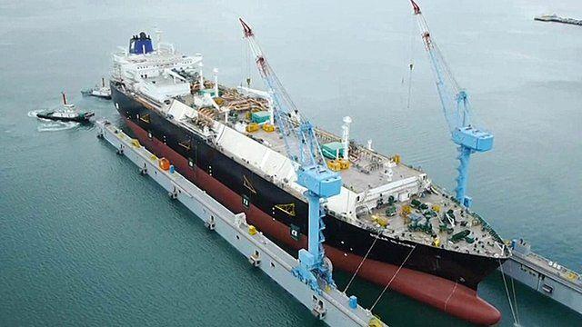 A ship at Hyundai Heavy Industries