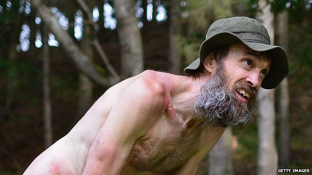 File photo from 2006 of the 'Naked Rambler' Stephen Gough