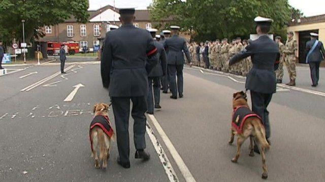 RAF Police arrive at Honington air base