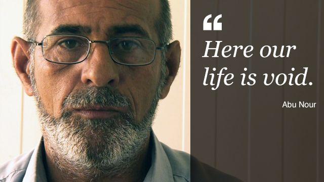 Abu Nour, a Christian who has fled Mosul
