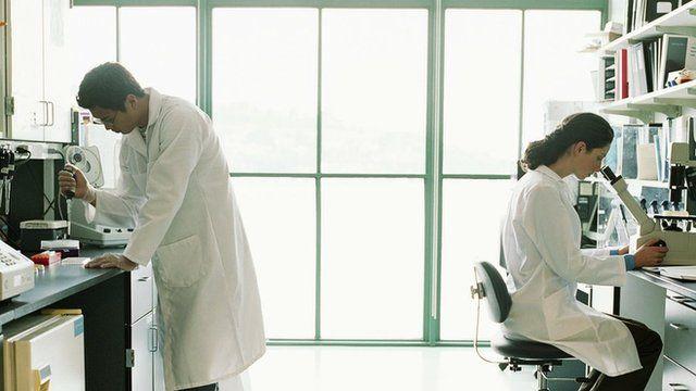 Scientists in laboratory, file pic