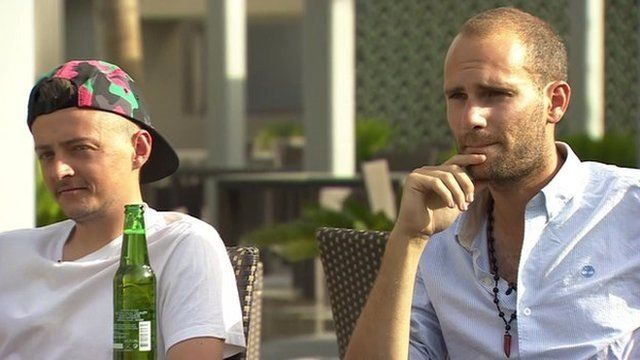 Jac Holmes and Harry, Britons who have been fighting against Islamic State in northern Syria