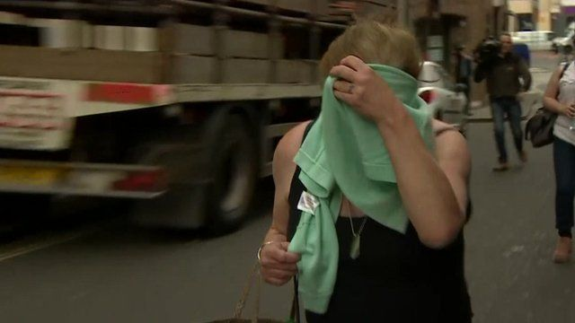 Louise Minnock arriving at court