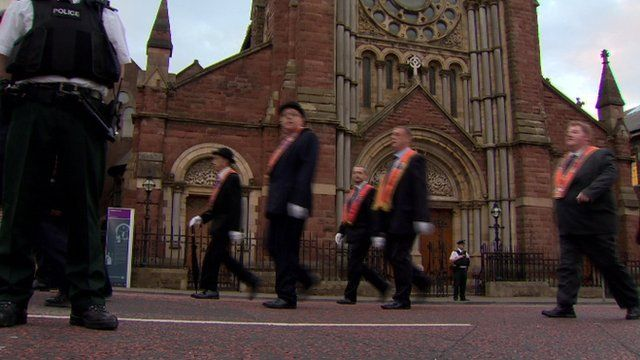 New restrictions have been placed on the annual north Belfast parade, as Ciara Riddell reports