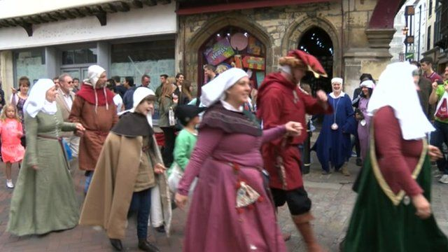 Magna Carta procession in Canterbury