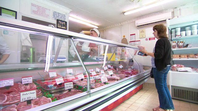 A butcher's counter